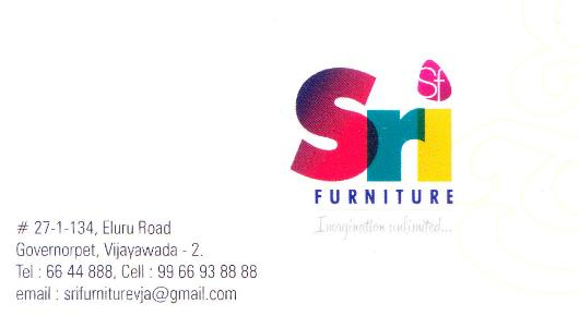 SRI Furniture Interiors Governorpet in Vijayawada Bezawadaat (near) Governorpet In Vijayawada